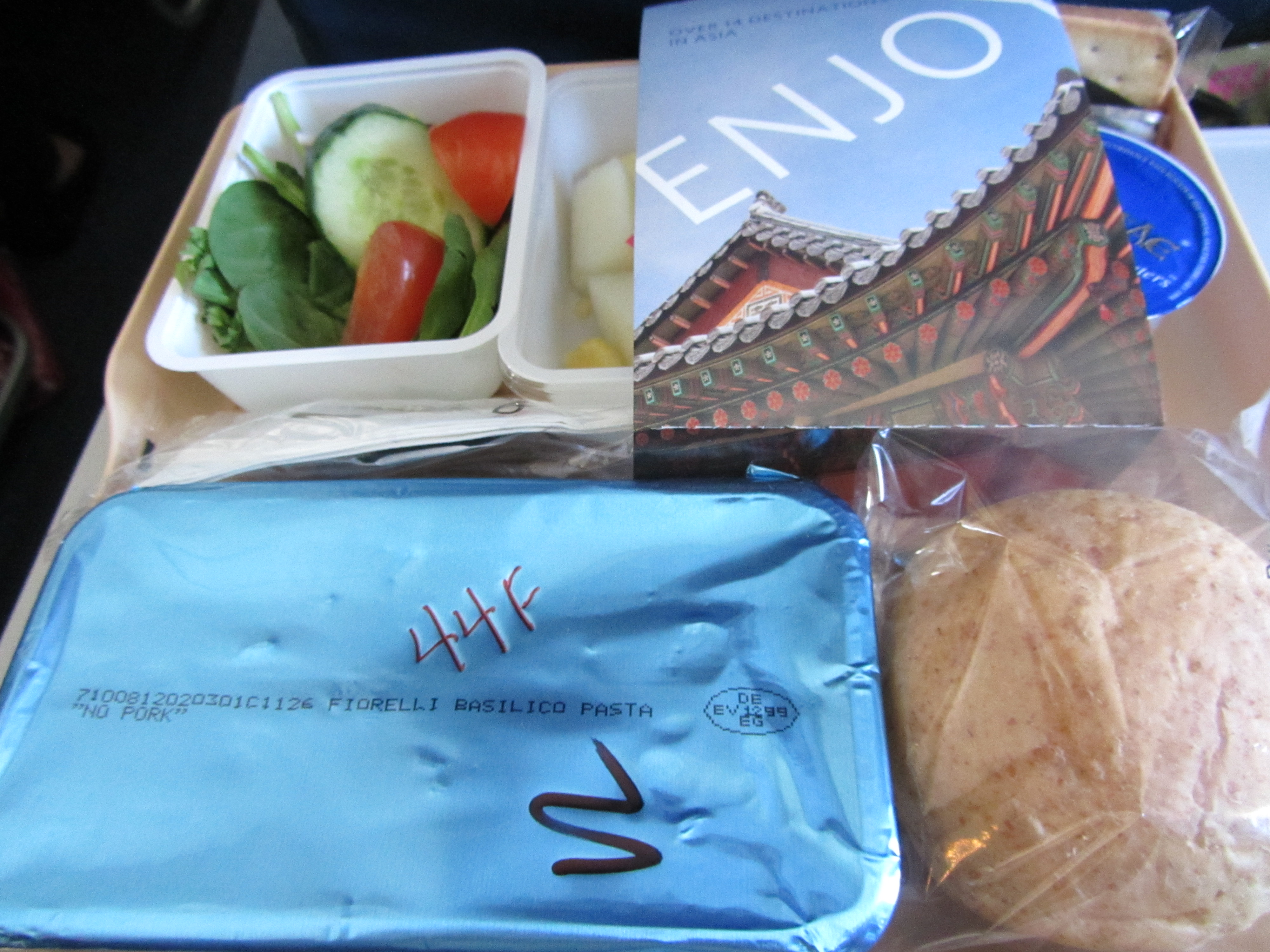 Airline Eating: The Vegetarian Meal on Delta Airlines | elaine is eating